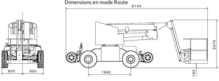Nacelle HA12PX dimension mode route